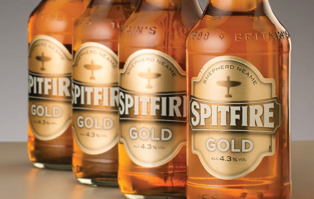 Bottles of Spitfire Gold