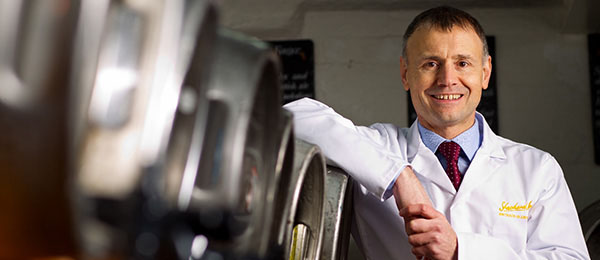 Shepherd Neame head brewer Richard Frost