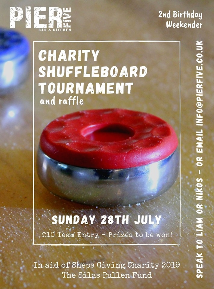 Charity Shuffleboard Event at Pier Five, Chatham 28/07/19